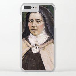 STA TERESITA DE LISIEUX Clear iPhone Case