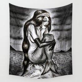 Black Mermaid Wall Tapestry
