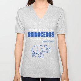 Rhino Tree African African Animal Activist Gift Unisex V-Neck
