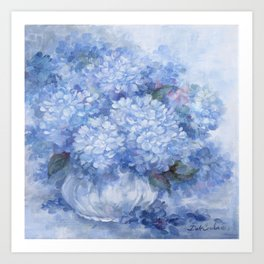 Hydrangeas in Blue Art Print