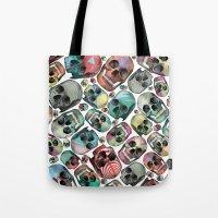 skulls Tote Bags featuring Skulls by Devin McGrath