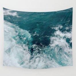 Ocean Waves (Teal) Wall Tapestry
