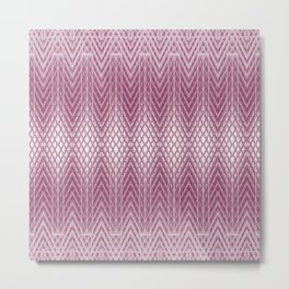 Icy Pink Frosted Geometric Relief Design Metal Print