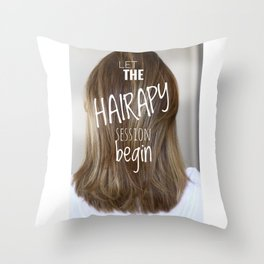 Hairstylist Throw Pillow