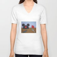 movies V-neck T-shirts featuring Disney Movies by Sierra Christy Art