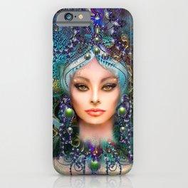 Diva in Green iPhone Case