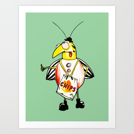 There is a Bug - Fion Art Print
