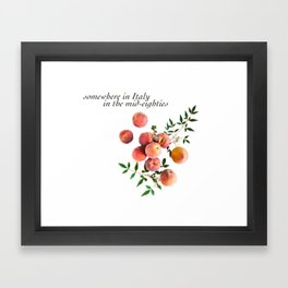 Call Me By Your Name - Inscription Framed Art Print