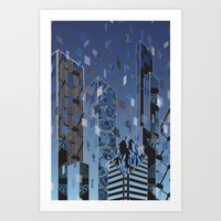 divergent Art Prints featuring Divergent by Melissa Woodall