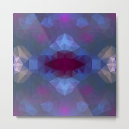 Triangles design in purple colors Metal Print