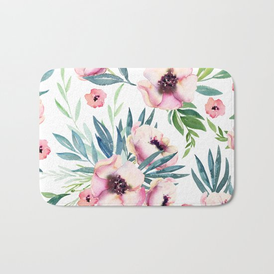 Flowers in Bloom Bath Mat