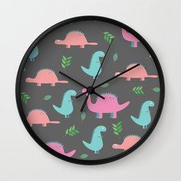 Happy Dinosaurs Wall Clock