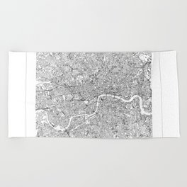 London Map 2 Beach Towel