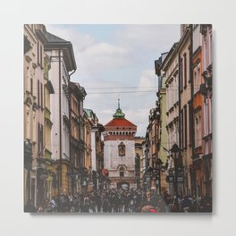 european street Metal Print