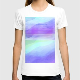 Seascape in Shades of Green Purple and Blue T-shirt