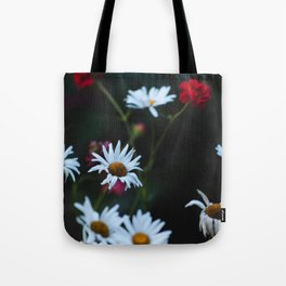 White & Red Tote Bag