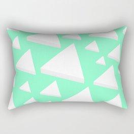 White Triangles Rectangular Pillow