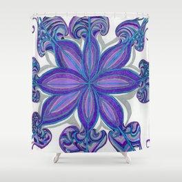 Bloom in Aqua & Purple Shower Curtain