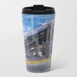 Moving A Train on NYC MTA Platform Travel Mug