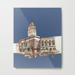 Ferry Building Metal Print