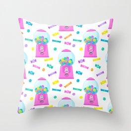 Pink Candy Dispenser – Rainbow Candy Shop Pattern Throw Pillow