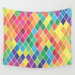 Watercolor Geometric Pattern II Wall Tapestry