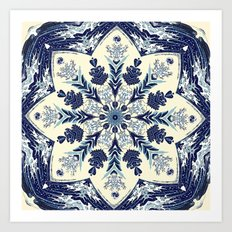 Deconstructed Waves Mandala Art Print