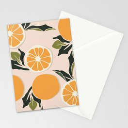 Orange branches Stationery Cards