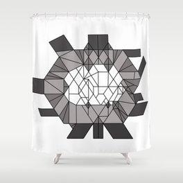 Dark matter: sculptural template (jon nobile) middle section Shower Curtain