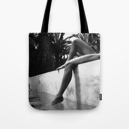 Dip your toes into the water, female form black and white photography - photographs Tote Bag