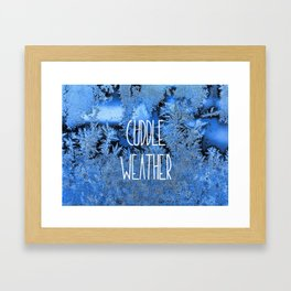 Cuddle Weather Framed Art Print