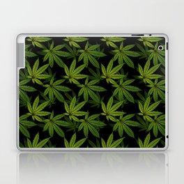 Cannabis Leaf - Black Laptop & iPad Skin