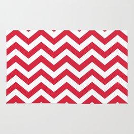 Red Chevron Pattern. Colorful zig zag stripe desig Rug