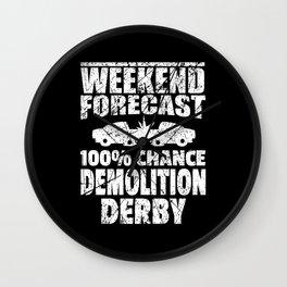 Demolition Derby Shirt Car Ramming Racing Lover Wall Clock