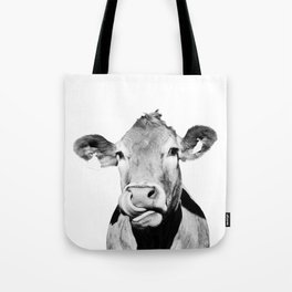 Cow photo - black and white Tote Bag
