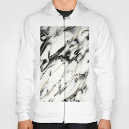 Classic White Marble Gold Foil Glam #1 #marble #decor #art #society6 Hoody
