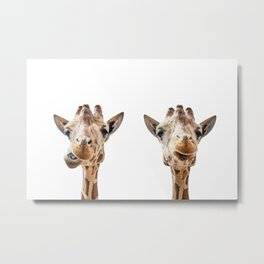 Funny Giraffe Portrait Art Print, Cute Animals, Safari Animal Nursery, Kids Room Poster, Wall Art Metal Print