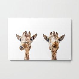 Funny Giraffe Portrait Art Print, Cute Animals, Safari Animal Nursery, Kids Room Poster, Wall Art Metal Print