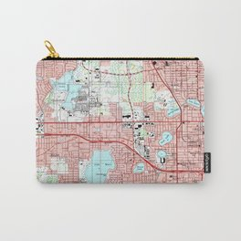 Orlando Florida Map (1995) Carry-All Pouch