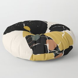 Black Hair No. 15 Floor Pillow