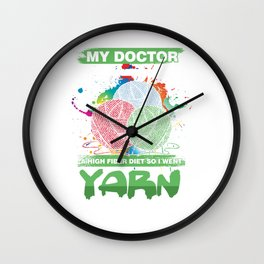 Shop Shopaholic Buying Black Friday My Doctor Recommended High Fiber Diet Yarn Shopping gift Wall Clock