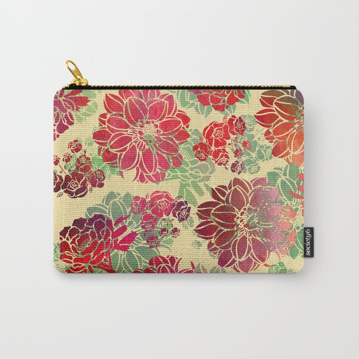 Flower Pattern Design #3 Carry-All Pouch