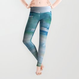 Miami Beach Watercolor #1 Leggings