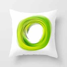 Soft Green Enso - Abstract Art By Sharon Cummings Throw Pillow