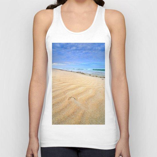 """Levante wind "" Magic Tarifa beach at sunrise Unisex Tank Top"