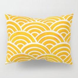 Japanese Seigaiha Wave – Marigold Palette Pillow Sham