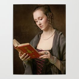 Girl with a Book Poster