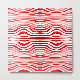 Rippled Red Metal Print