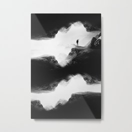 Hello from the The Upside Down World Metal Print