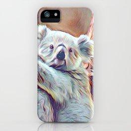 Painted Koala Baby iPhone Case